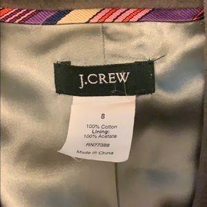 Gray J Crew Velvet Blazer